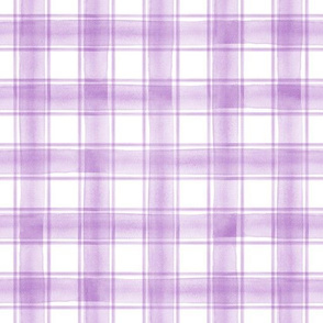 watercolor plaid || purple double