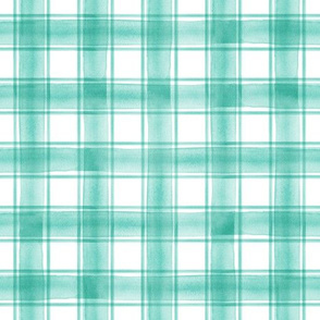 watercolor plaid || teal double