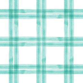 spring plaid    teal double