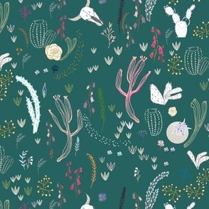 Cactus Garden (teal)