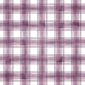 watercolor plaid || eggplant double