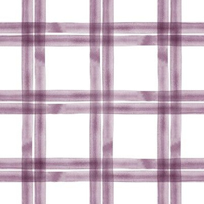 spring plaid || eggplant double
