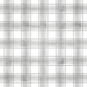 watercolor plaid || grey double