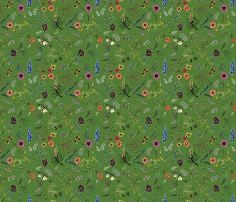 Sierra Wedding - green fabric by cinneworthington on Spoonflower - custom fabric