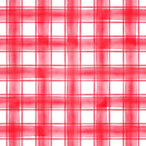 watercolor plaid || rose red double