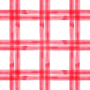 spring plaid || rose red double