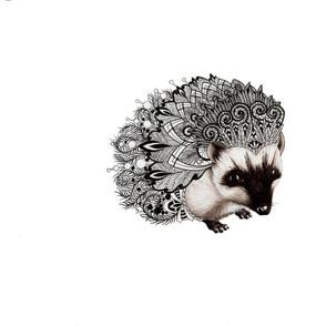 Zentangle Hedgehog- PILLOW SIZE
