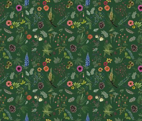 Sierra Wedding - deep forest fabric by cinneworthington on Spoonflower - custom fabric