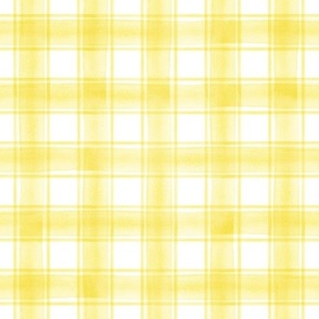 watercolor plaid || yellow double