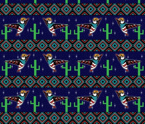 Desert Night Cowbirds fabric by ally_the_junebug on Spoonflower - custom fabric