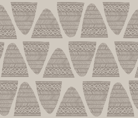 comb-shaped pottery_WarmG1_403U_s_s fabric by se_kyoung on Spoonflower - custom fabric