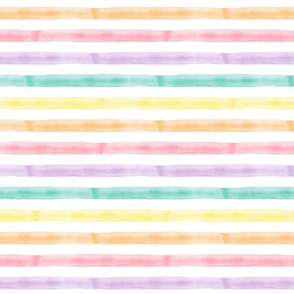 watercolor multi stripe || easter spring fabric