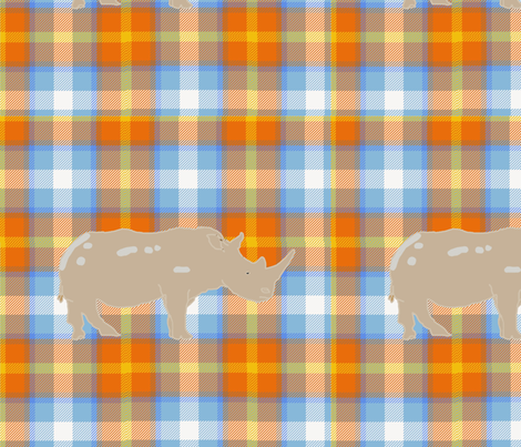 The_Desert_Rhino_Tartan fabric by spicerroots on Spoonflower - custom fabric