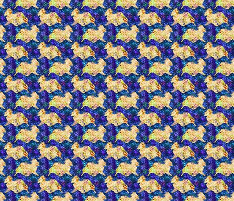Cosmic trotting Papillon - night fabric by rusticcorgi on Spoonflower - custom fabric