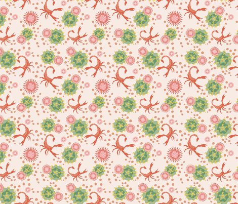 Scorpion Above the Cactus desert orange fabric by colour_angel_by_kv on Spoonflower - custom fabric