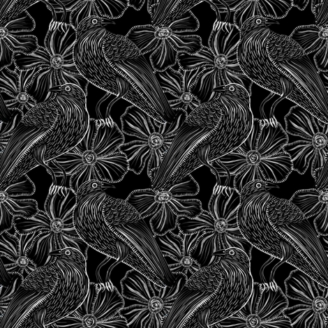Trickster Raven fabric by vo_aka_virginiao on Spoonflower - custom fabric
