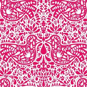 Folk Bird - Pink