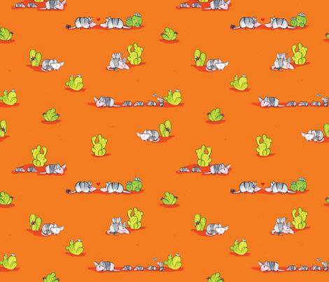 Desert Armadillos fabric by lilredbug on Spoonflower - custom fabric