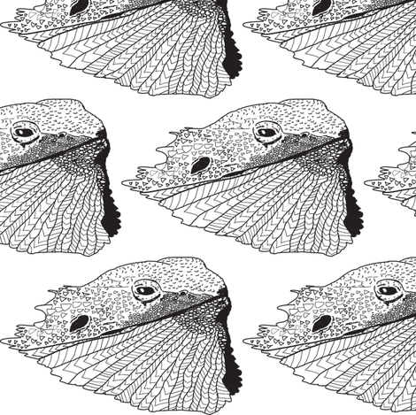 Just a Tad of Bearded Dragon-Desert King fabric by stellarevolutiondesigns on Spoonflower - custom fabric