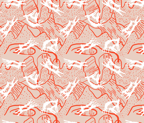 Jumping Goats fabric by janetdrummond on Spoonflower - custom fabric