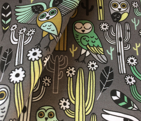 desert owls - medium gray // updated