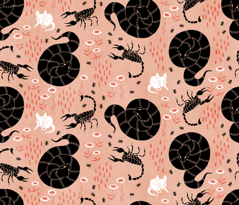 Nowhere to hide - Dusk fabric by pinky_wittingslow on Spoonflower - custom fabric