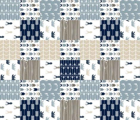 Rrustic_woods_patchwork_with_navy_linen_buck_heads-03_shop_preview