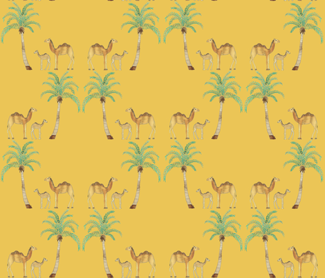 Mama_Camel_and_baby fabric by amanda_jane_textiles on Spoonflower - custom fabric