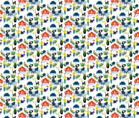 In my house it's always warm =) fabric by masha_k__saunders on Spoonflower - custom fabric