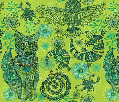 Desert Spirit Dreams fabric by honoluludesign on Spoonflower - custom fabric