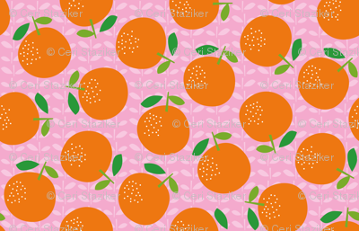 Giant Oranges (on pink)