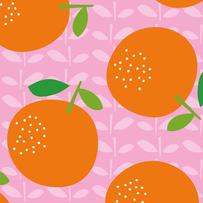 Giant Oranges (on pink)