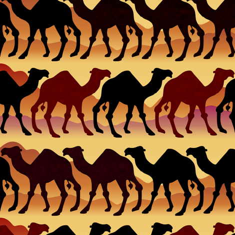 Camel Caravans fabric by lilithdeanu on Spoonflower - custom fabric