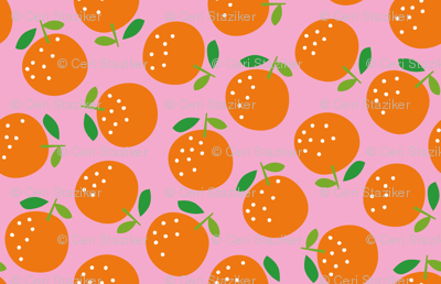 Oranges (on pink)