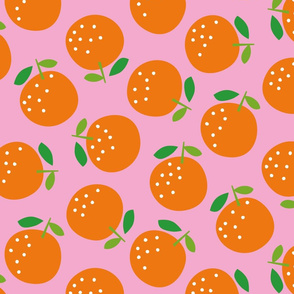 Oranges (on pink)