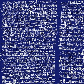 Egyptian Script on Midnight Blue // Small