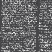 Hieratic Text on Charcoal // Edwin Smith Papyrus on Charcoal // Ancient Writing Collection
