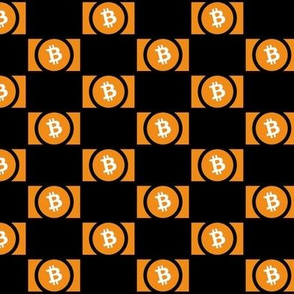 Bitcoin Logo - Staggered // Small