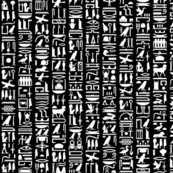 Egyptian Heiroglyphics II // Black