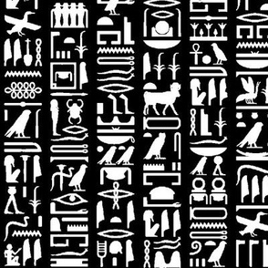 Egyptian Hieroglyphics - Black // Small