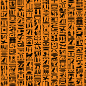 Egyptian Hieroglyphics II // Orange