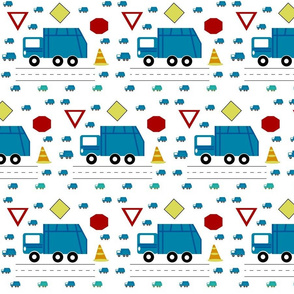 garbage truck 7 - traffic  blue