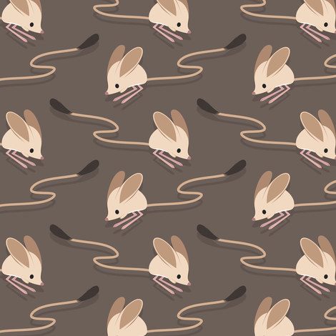 Cute long-eared jerboa fabric by petitspixels on Spoonflower - custom fabric