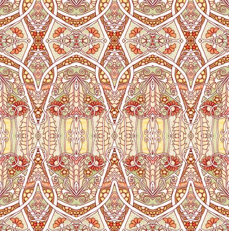 Where the Orange Posies Play fabric by edsel2084 on Spoonflower - custom fabric