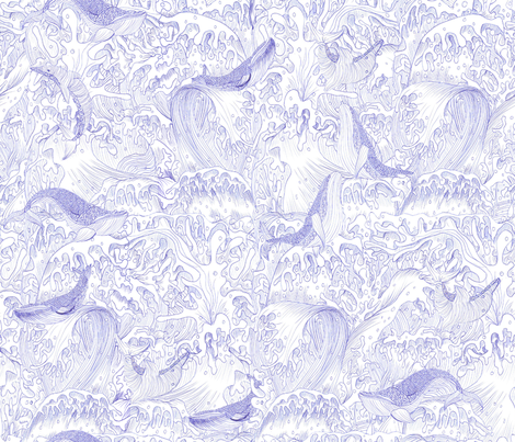 Woe the whales and dolphins fabric by cynthiahoekstra on Spoonflower - custom fabric