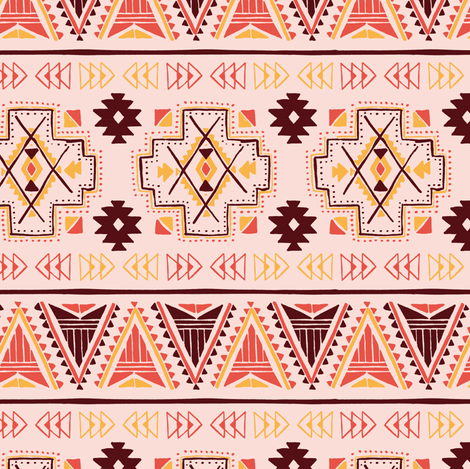 Tribal 002 fabric by innamoreva on Spoonflower - custom fabric
