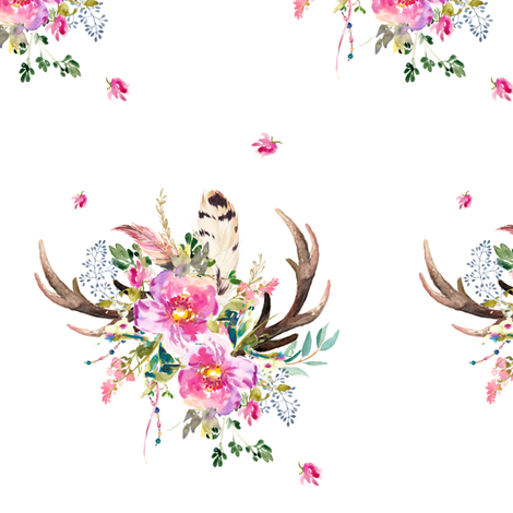 "Bohemian Dreams Antlers - 6"" MIX & MATCH  fabric by shopcabin on Spoonflower - custom fabric"