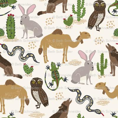 Animals in the Wild Desert