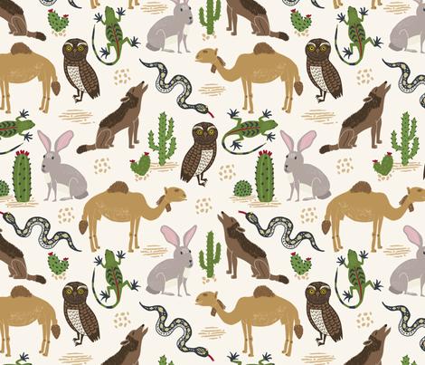 Animals in the Wild Desert fabric by bethschneider on Spoonflower - custom fabric