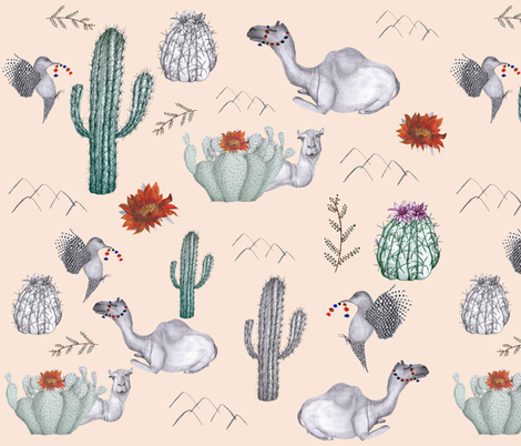 desert_-_main_dhb fabric by designhouseofberry on Spoonflower - custom fabric